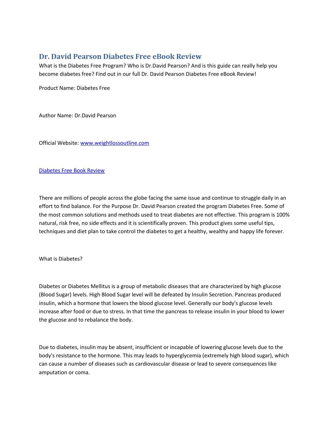 diabetes free dr pearson pdf download