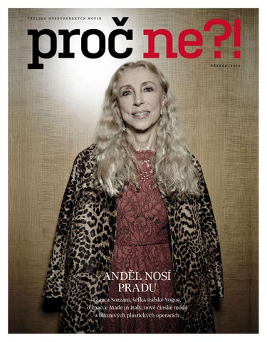 efff3bf8009 Proc ne ! March 2015 Franca Sozzani by Hospodarske noviny Proc ne ...
