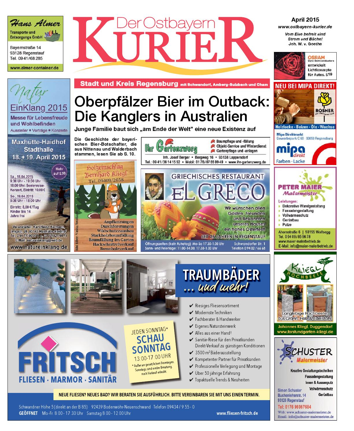 Sued Ostbayern Kurier April 2015 By Medienverlag Hubert Süß   Issuu