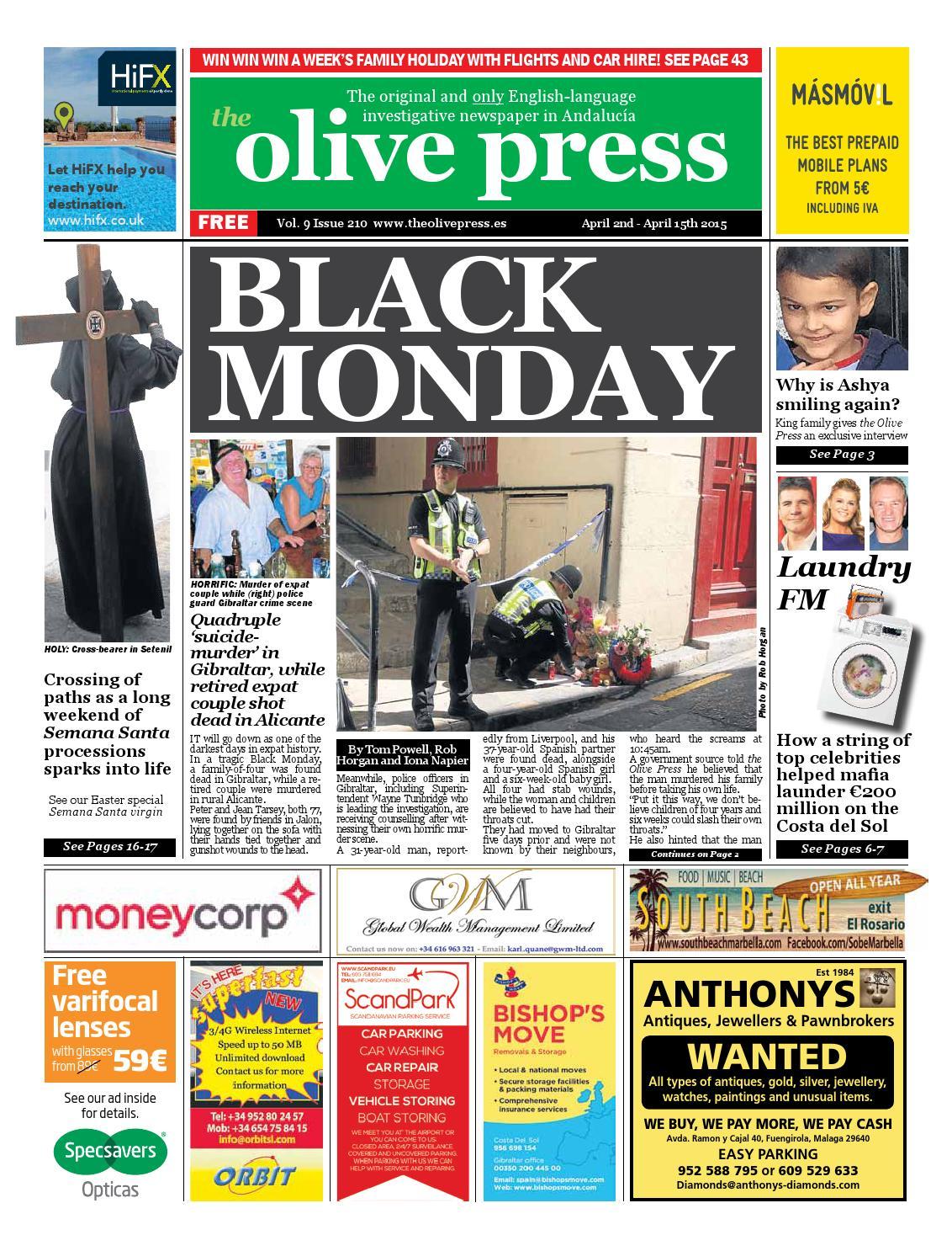 Olive Press Newspaper Issue 210 By Olive Press Newspaper Spain  # Muebles Pepe Jesus Las Palmas