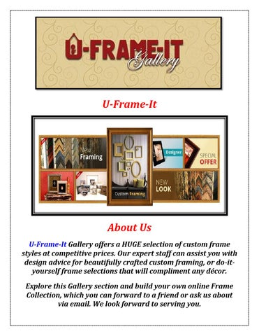Framing brochures by west country galleries ltd issuu u frame it gallery custom picture framing tarzana solutioingenieria Images