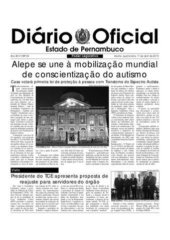 c0a5108f451 D.O ALEPE 01.04.2015 by Assembleia Legislativa do Estado de ...