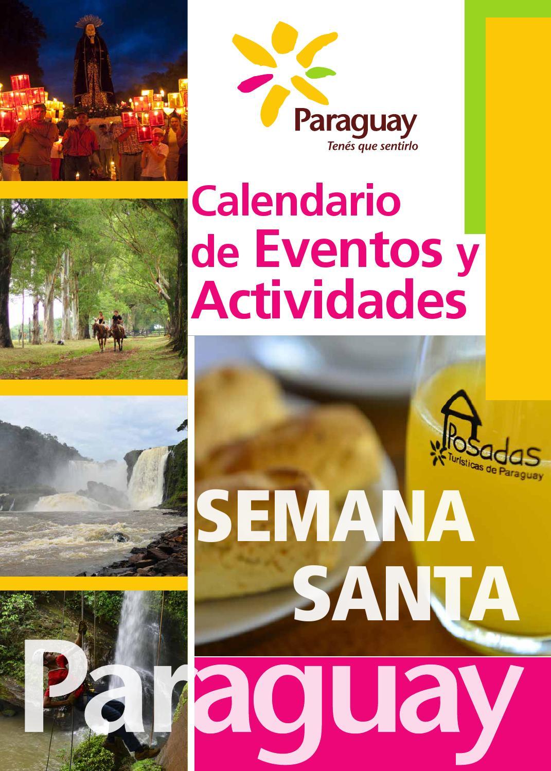 Calendario De Actividades De Semana Santa Senatur By Saermo  # Carmelo Muebles Luque