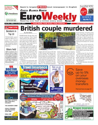 Euro Weekly News - Costa Blanca North 2 - 8 April 2015 Issue 1552