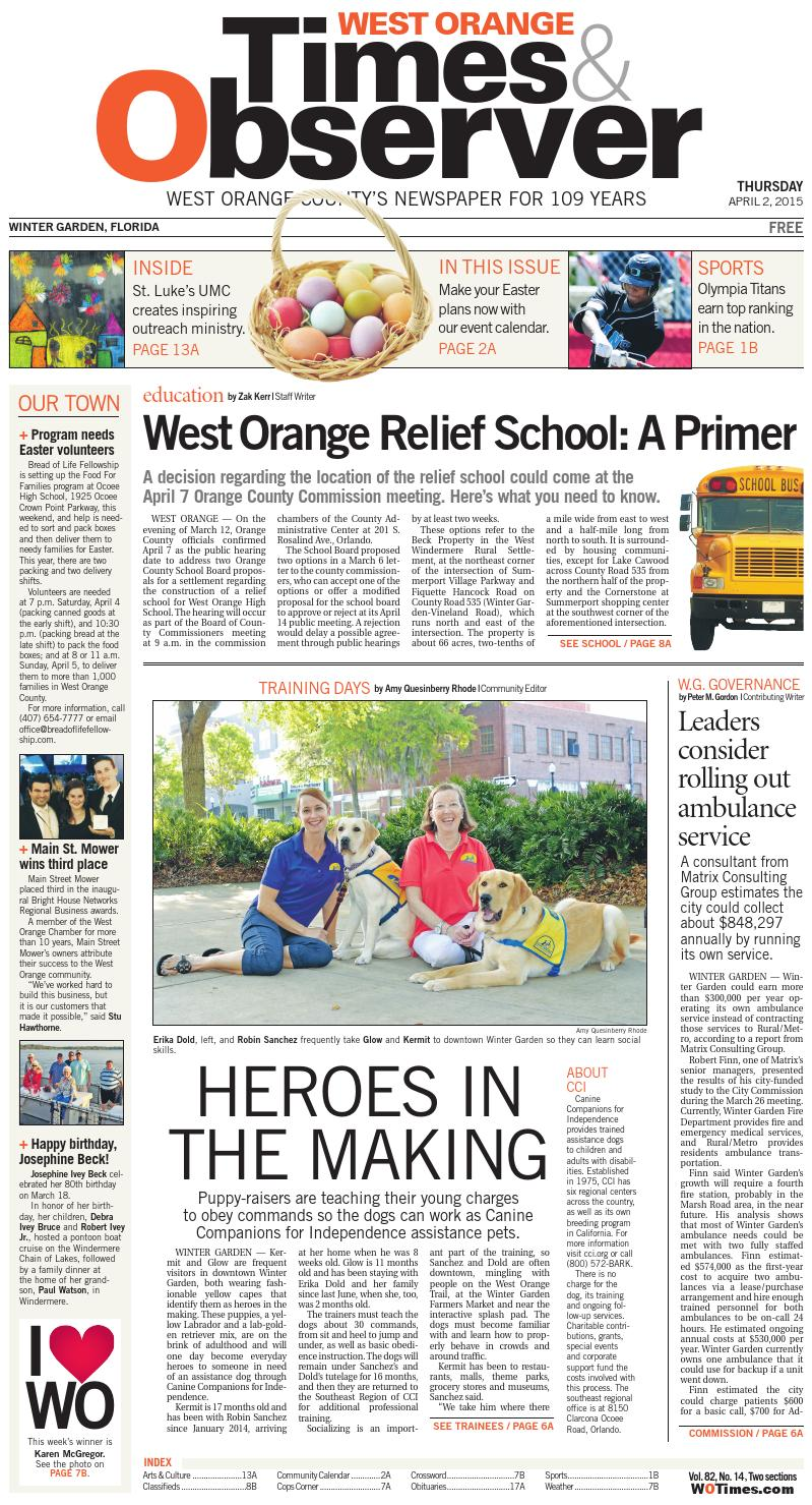 04 02 15 west orange times u0026 observer by orange observer issuu