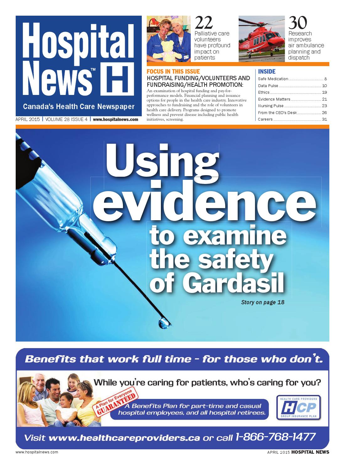 Hospital News 2015 April Edition by Hospital News - issuu