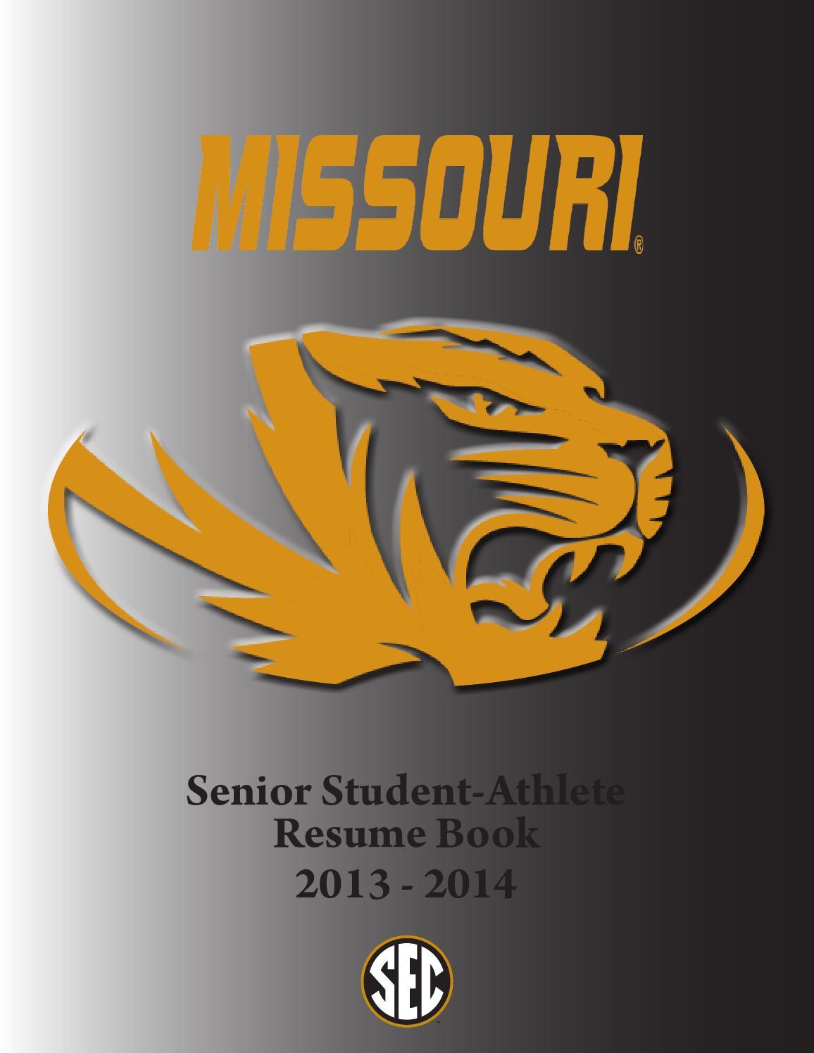 2013 2014 Mizzou Athletics Senior Resume Book By Kim Bishop