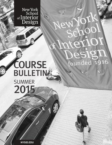 Summer 2015 Course Bulletin