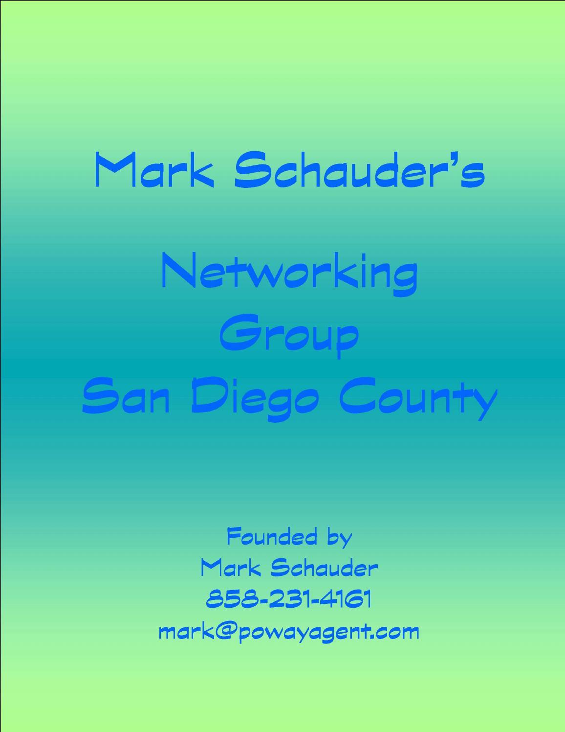 Networking group by Mark Schauder - issuu