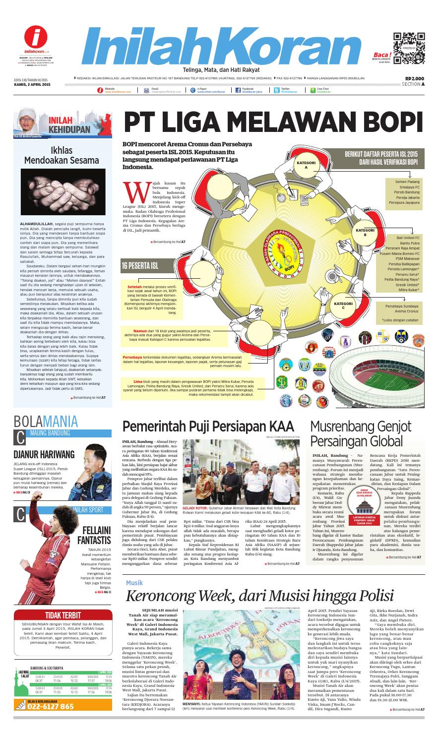 Pt Liga Melawan Bopi By Inilah Koran Issuu Rkb Tegal Madu Mongso