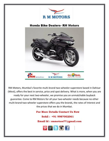 Honda Bike Dealers- RM Motors