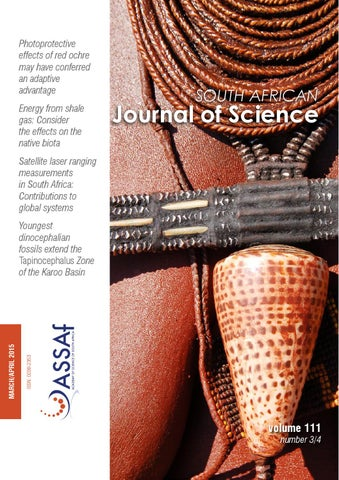 South african journal of science volume 111 issue 34 by south photoprotective effects of red ochre may have conferred an adaptive advantage energy from shale gas consider the effects on the native biota fandeluxe Images