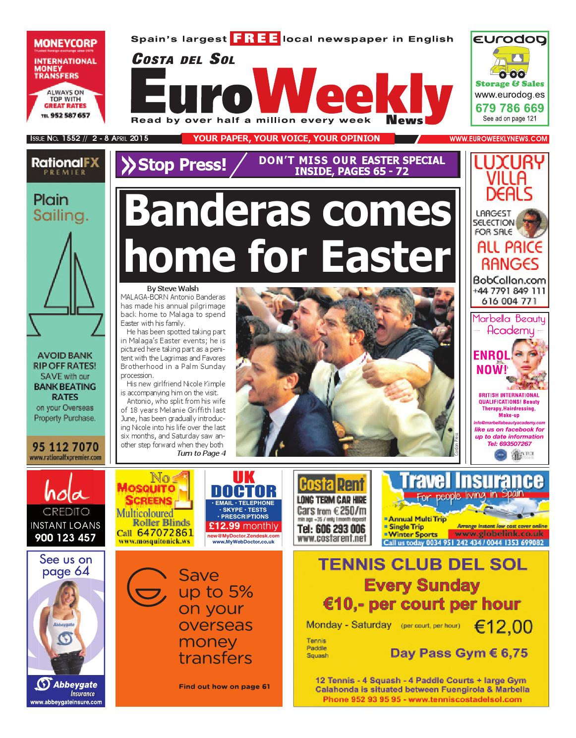 Euro weekly news costa del sol 2 8 april 2015 issue 1553 by euro euro weekly news costa del sol 2 8 april 2015 issue 1553 by euro weekly news media sa issuu fandeluxe Gallery