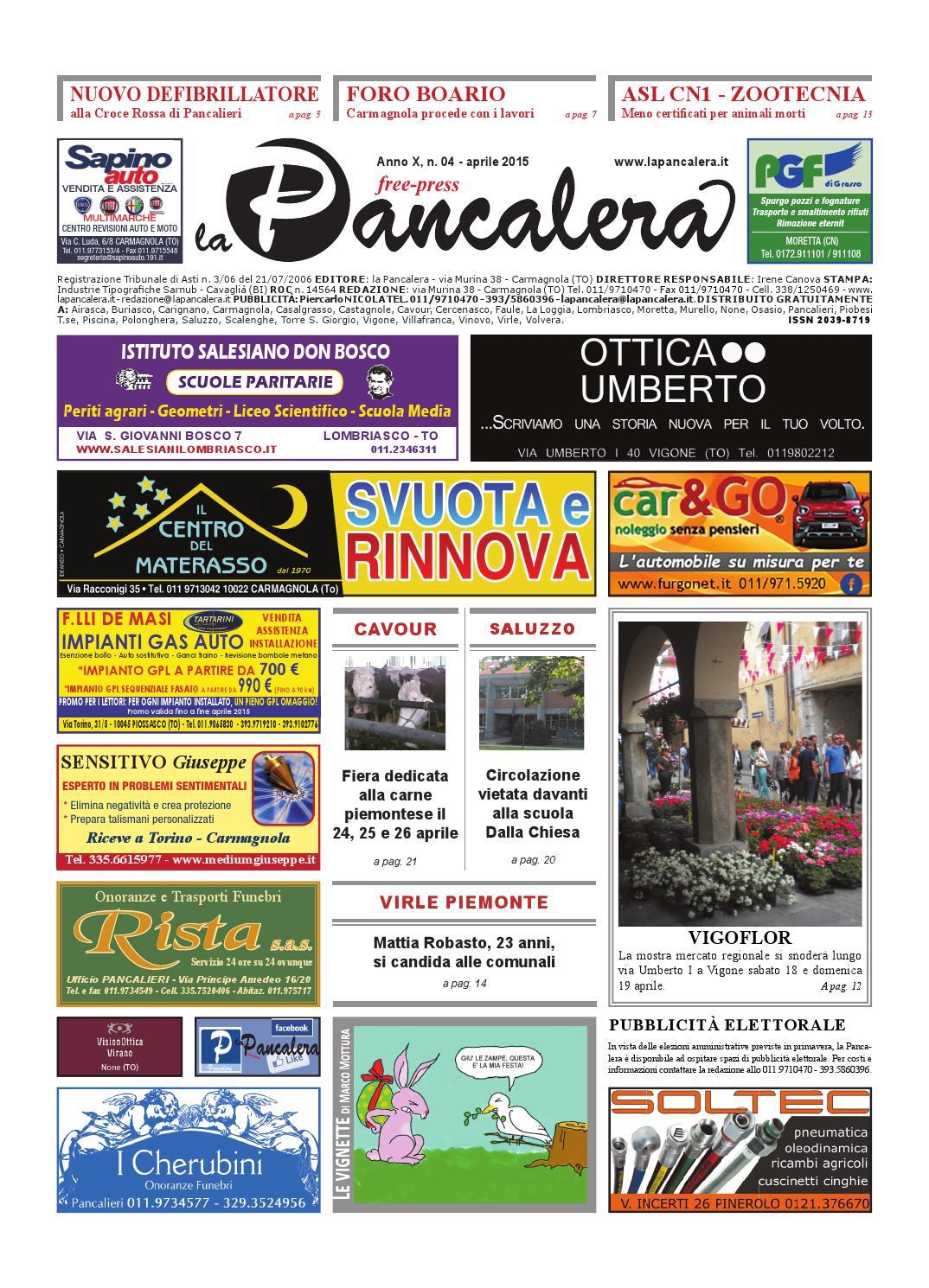 Centro Del Materasso Carmagnola.La Pancalera Aprile 2015 By La Pancalera Issuu