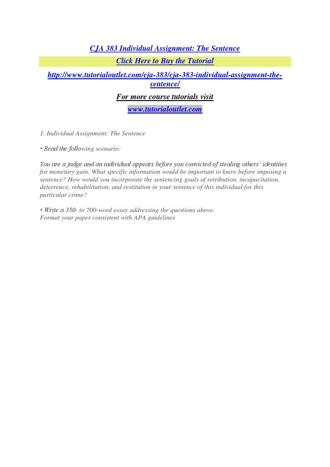 Essay on incapacitation