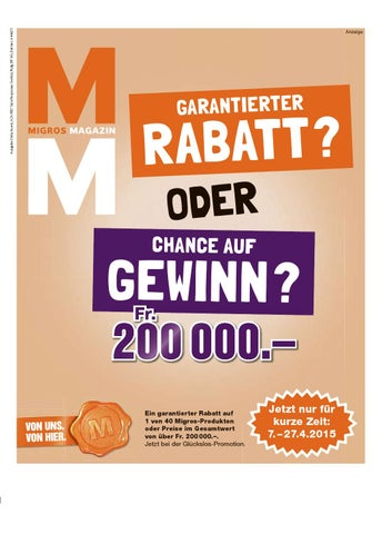 Migros magazin 15 2015 d os by Migros-Genossenschafts-Bund - issuu
