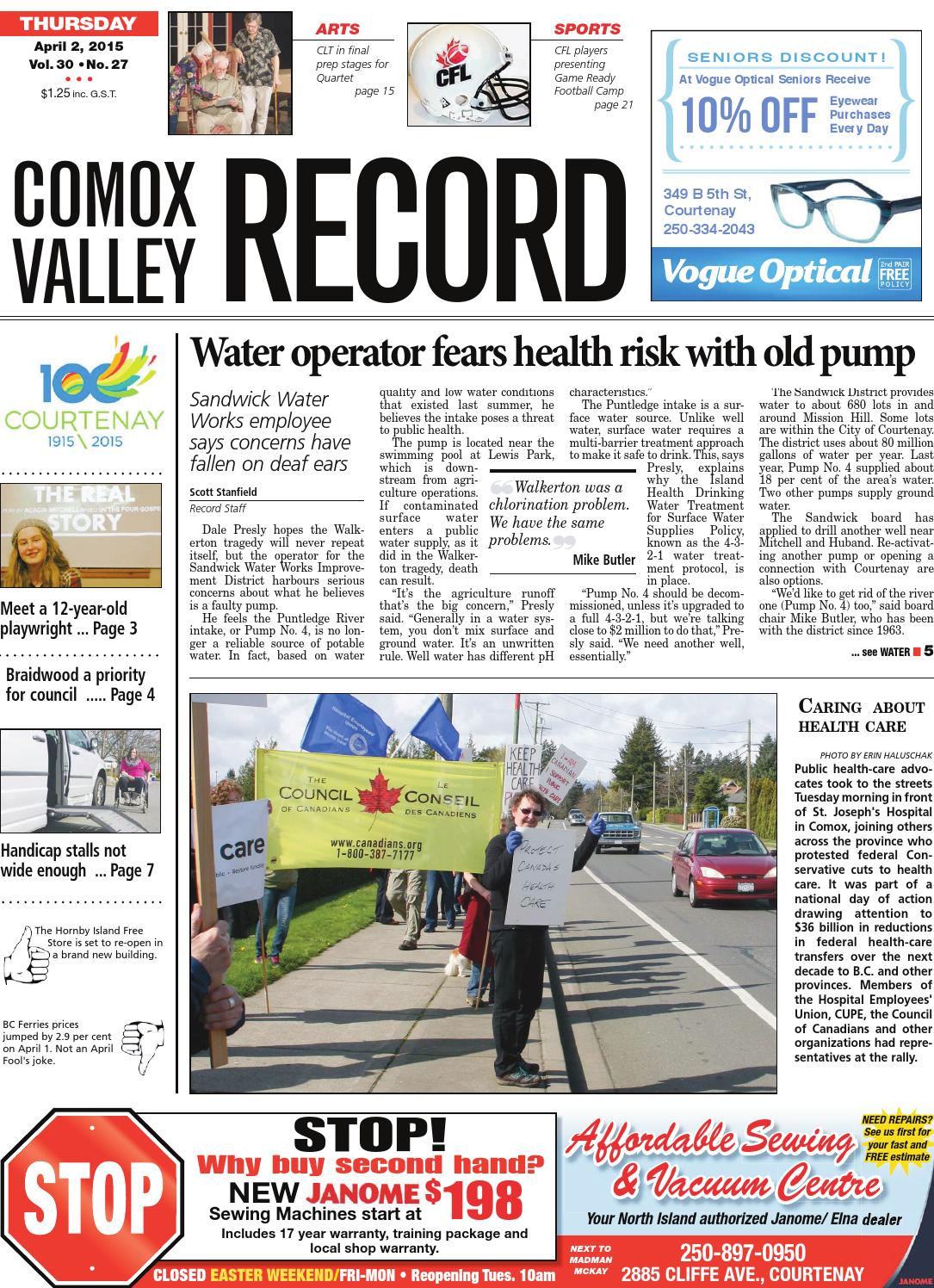 Comox Valley Record April 02 2015 By Black Press Issuu