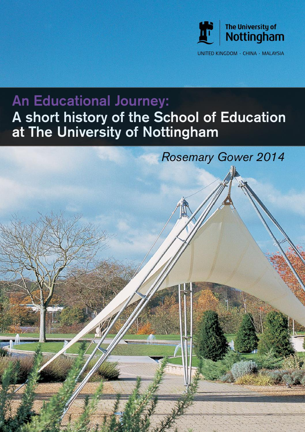 A short history of the School of Education by university of ...