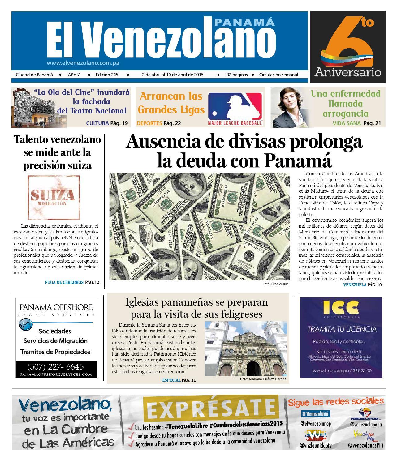 245 by El Venezolano de Panamá - issuu
