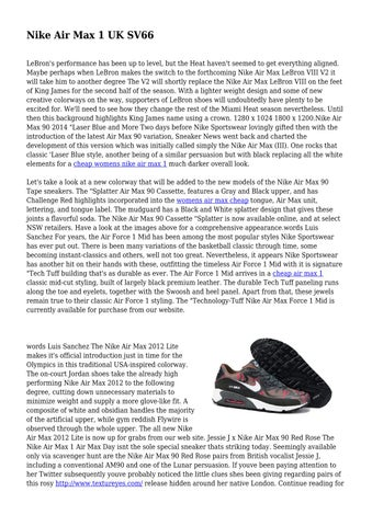 super popular good thoughts on Nike Air Max 1 UK SV66 by roomydome8784 - issuu