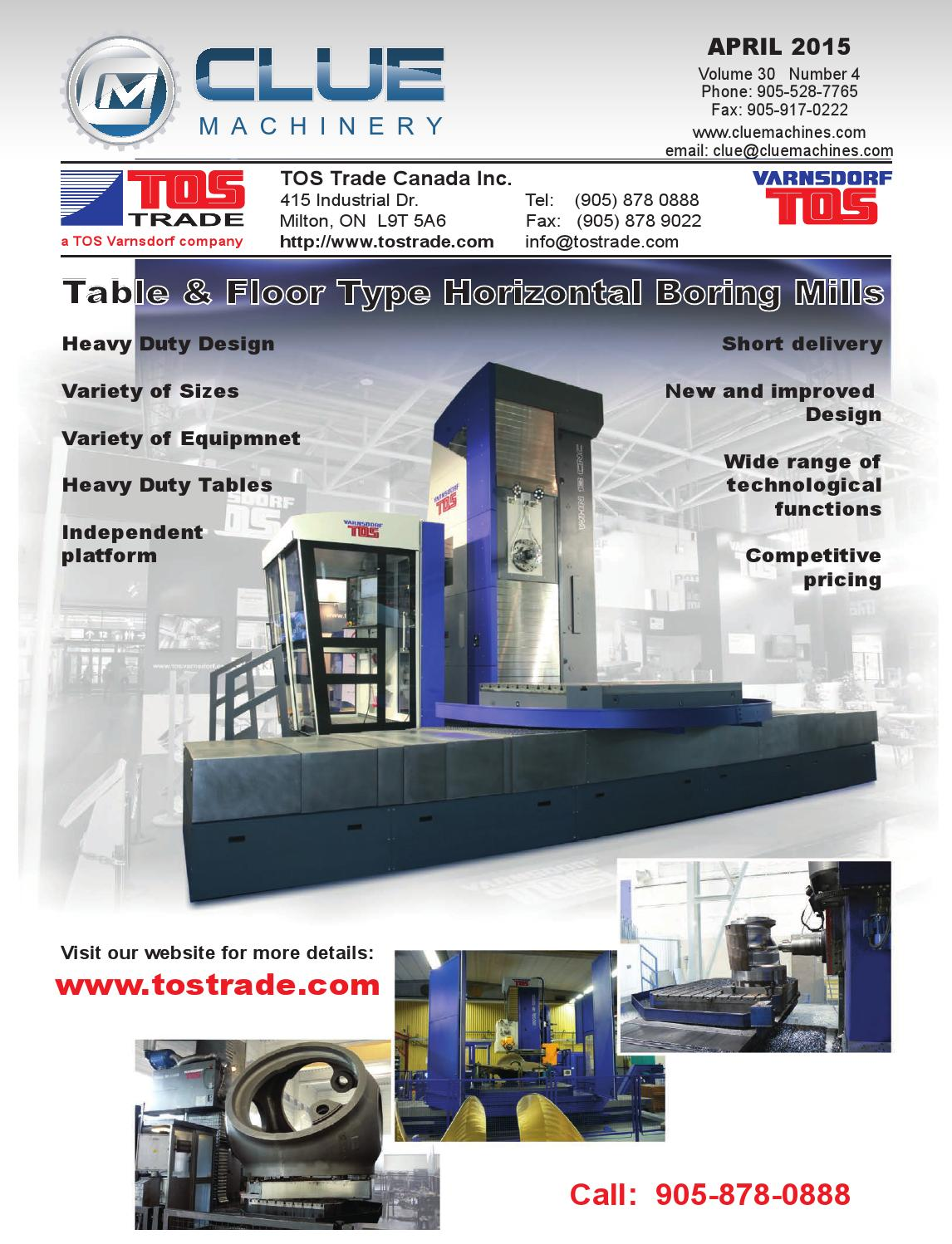 Clue Machinery - April 2015 Issue by Clue Machinery Advertiser - issuu