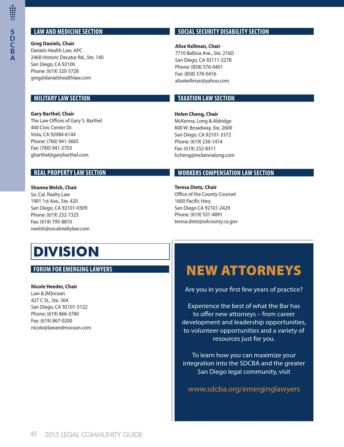 SDCBA Legal Community Guide 2015 by San Diego County Bar