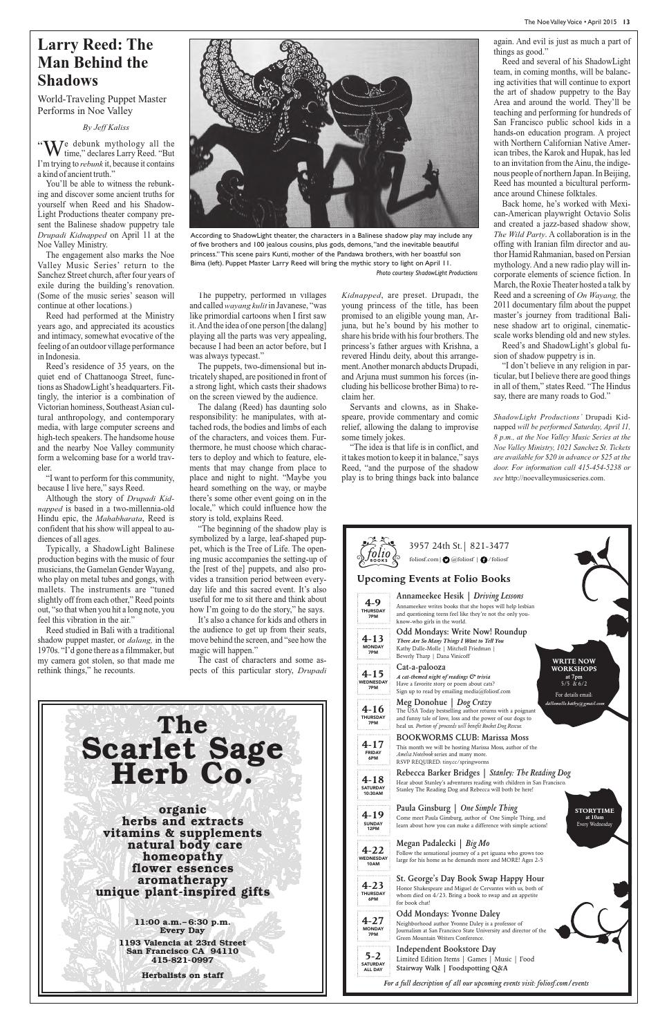 Noe Valley Voice April 2015 by The Noe Valley Voice - issuu