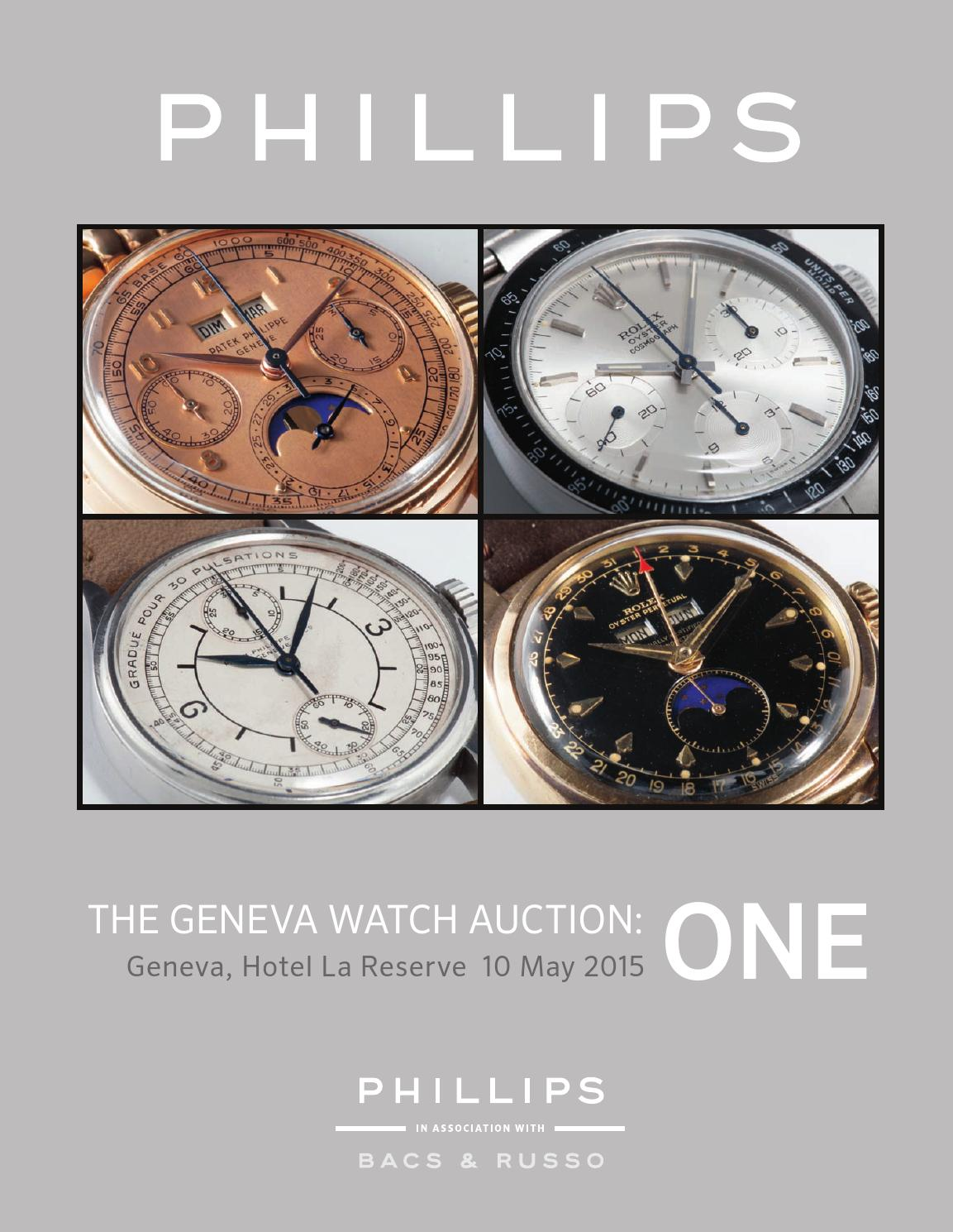 THE GENEVA WATCH AUCTION ONE CATALOGUE