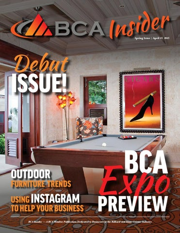 BCA Insider - 2015 Debut Edition by Billiard Congress of America - issuu