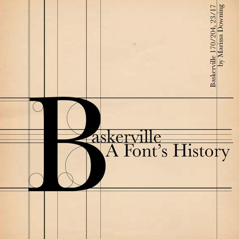 Baskerville Font Spec Book by Marissa Downing - issuu