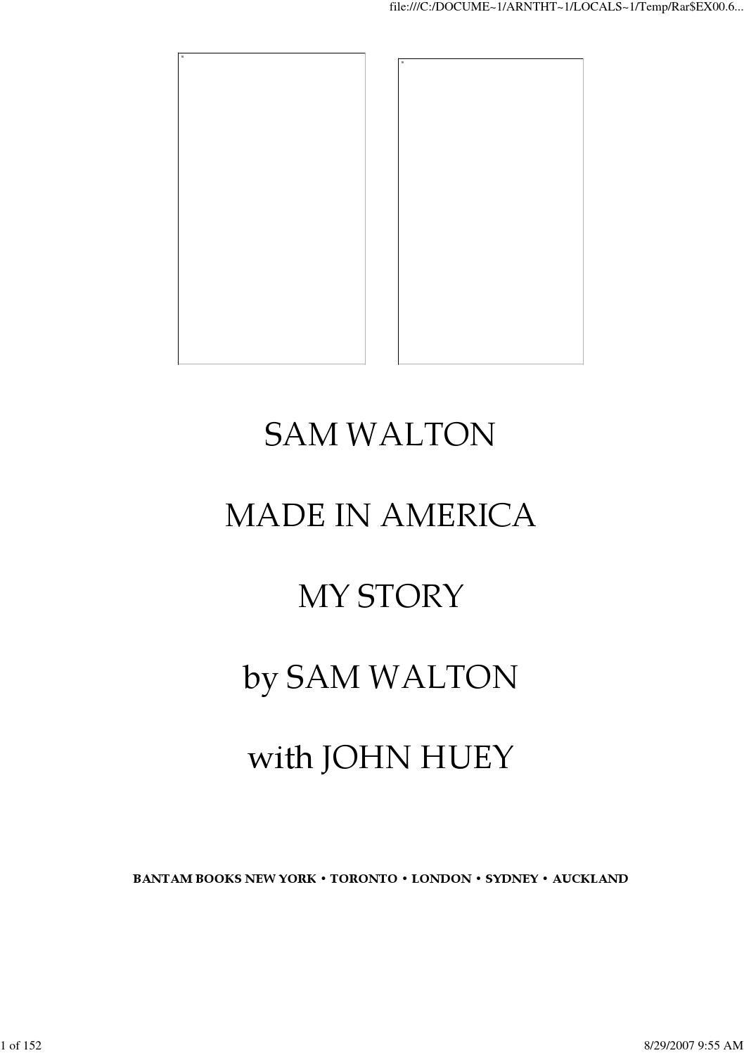 Sam walton made in america by Asim Zafar - issuu