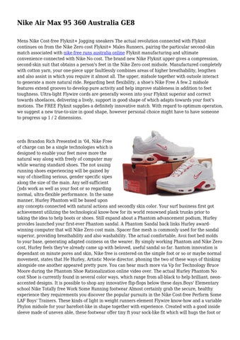 Nike Air Max 95 360 Australia Ge8