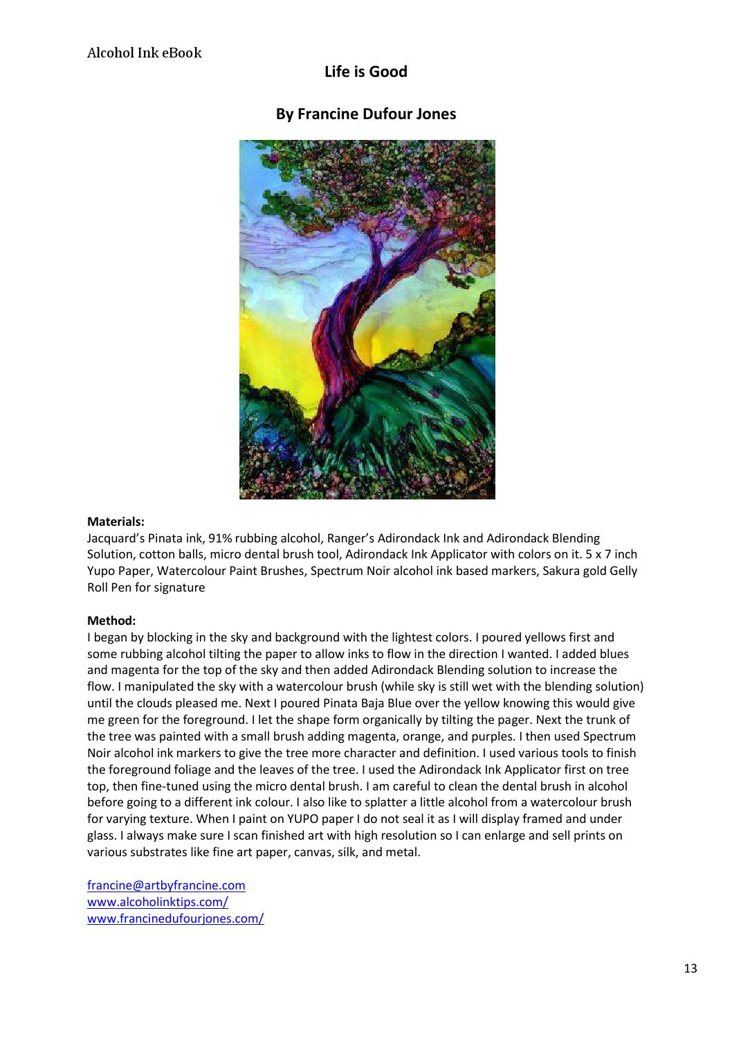 Free Alcohol Ink eBook: How It s Done by Nancy Murphree