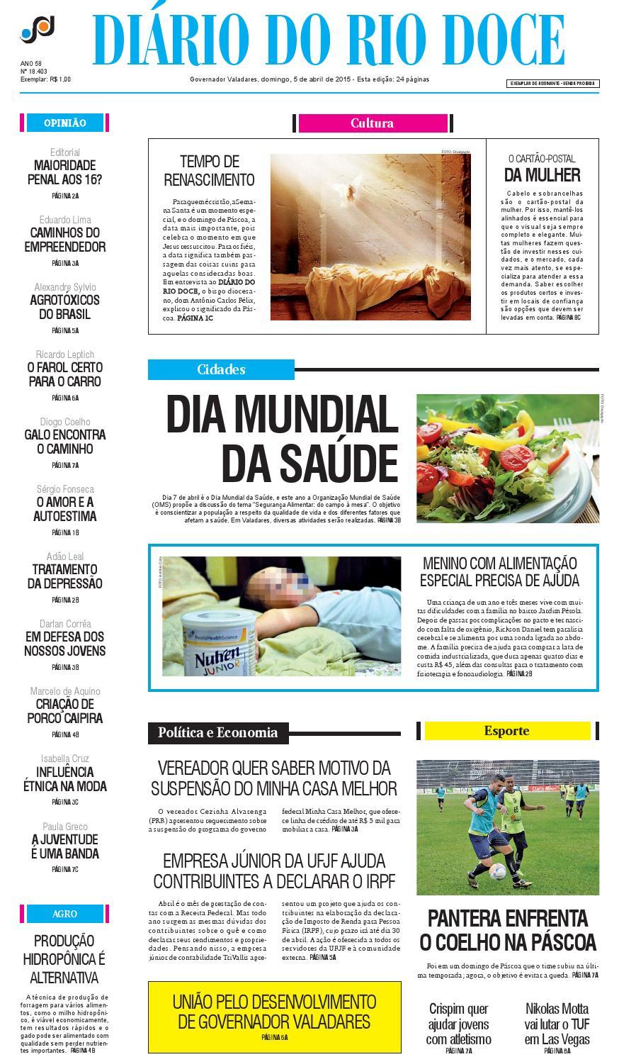 bc4e3b6d0 Diário do Rio Doce - Edição de 05/04/2015 by Diário do Rio Doce - issuu