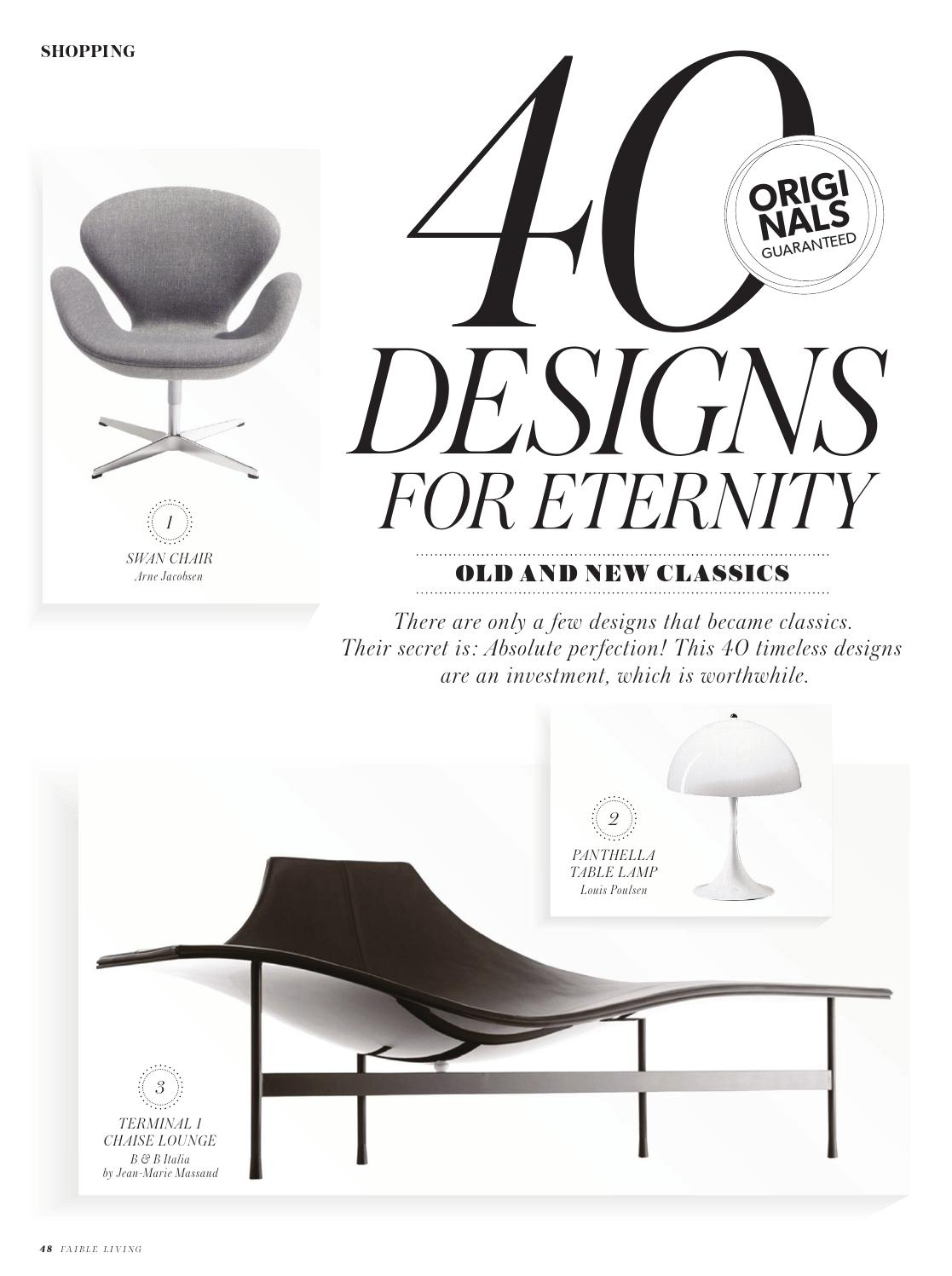 Chaise Longue Classic Design Italia.Faible Living N 7 Spring Summer 15 By Livingstylemedia Issuu