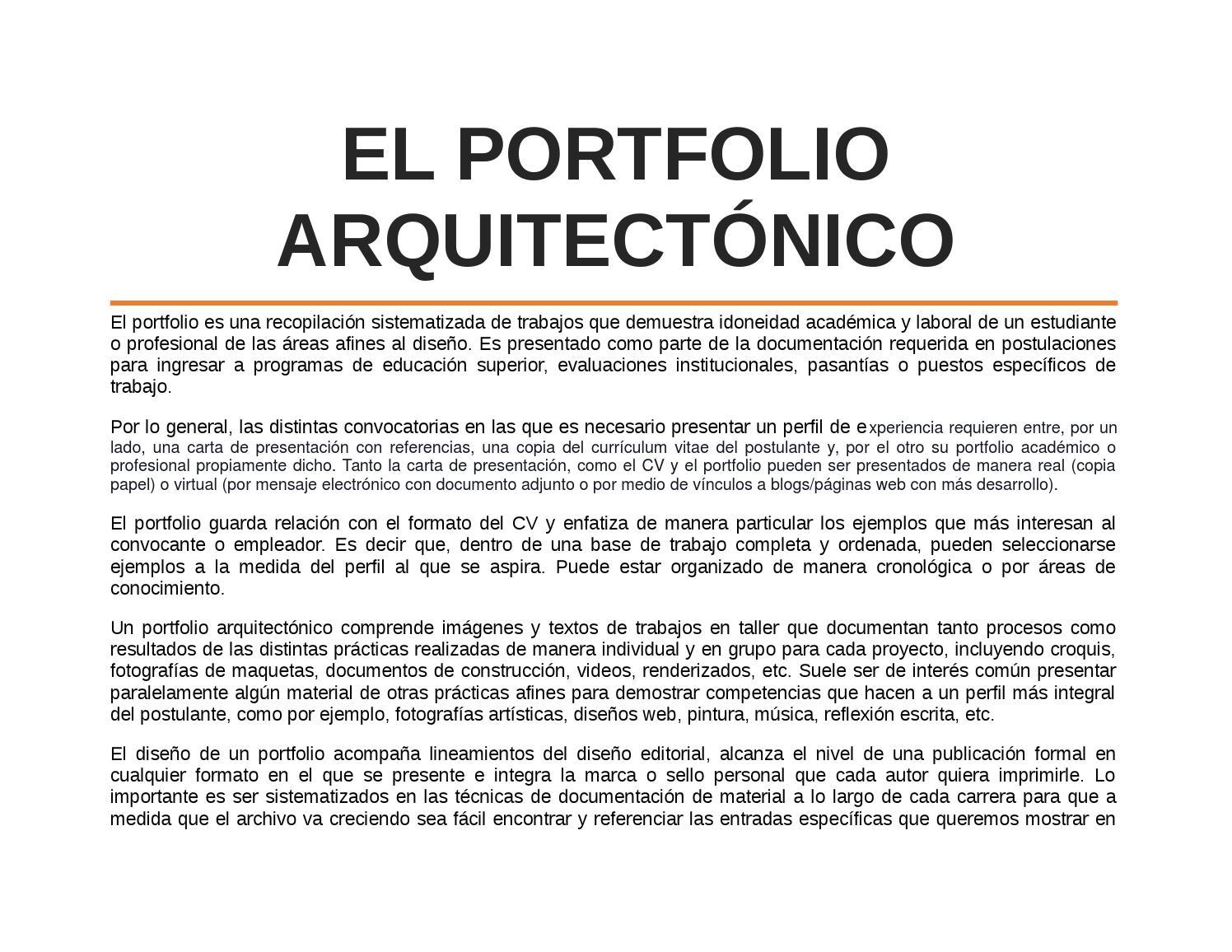 El portfolio arquitectónico by Emilia - issuu
