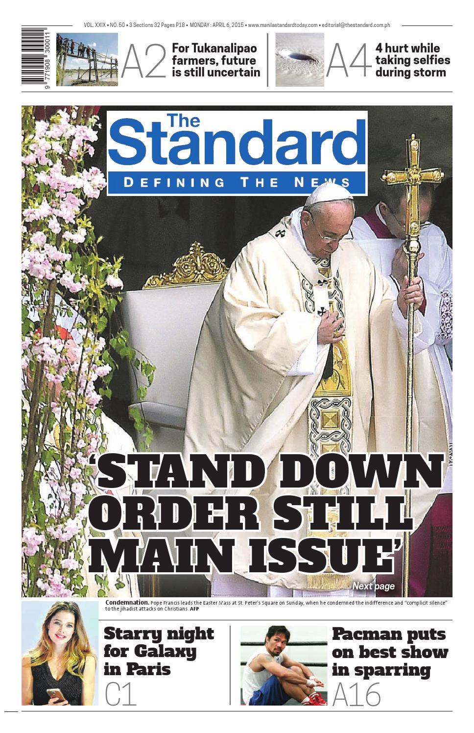 The Standard 2015 April 06 Monday By Manila Standard Issuu