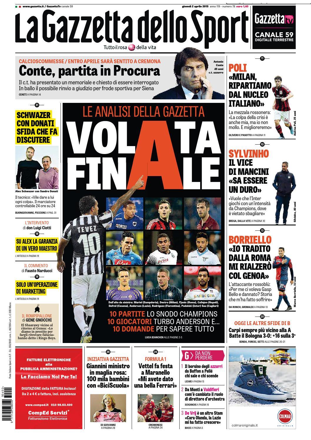 La Gazzetta dello Sport (04-02-2015) by Nguyen Duc Thinh - issuu 3209b5dc18b