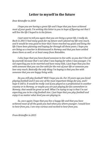 a letter to myself example letter to myself in the future by kristoffer issuu 23980