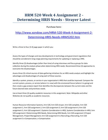 week 2 assignment 520 Get help for strayer-university hsa 520 week 11 final exam part 2we provide assignment, homework, discussions and case studies help for all subjects strayer-university for session 2017-2018.