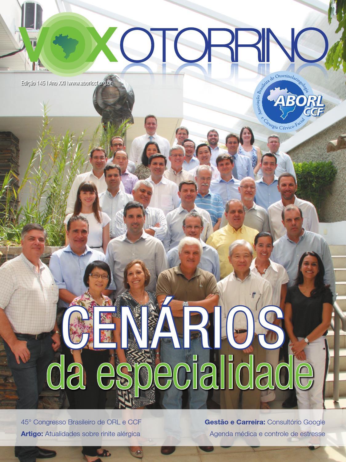 Revista Vox Otorrino - Nº 145 by ASSOCIAÇÃO BRASILEIRA DE  OTORRINOLARINGOLOGIA E CIRURGIA CÉRVICO-FACIAL - issuu 85ee8af027d94