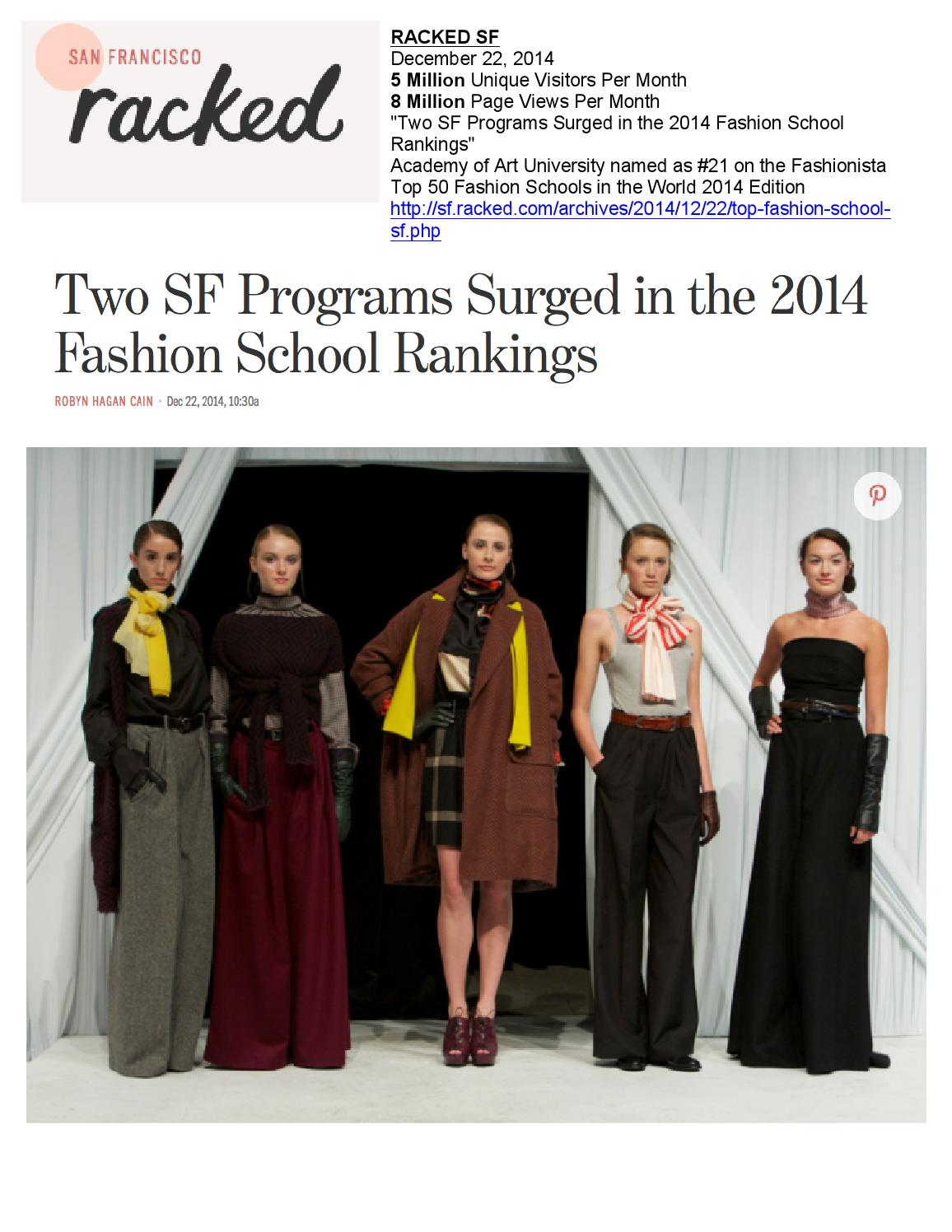 12 22 2014 Racked Sf By Academy Of Art University School Of Fashion Issuu