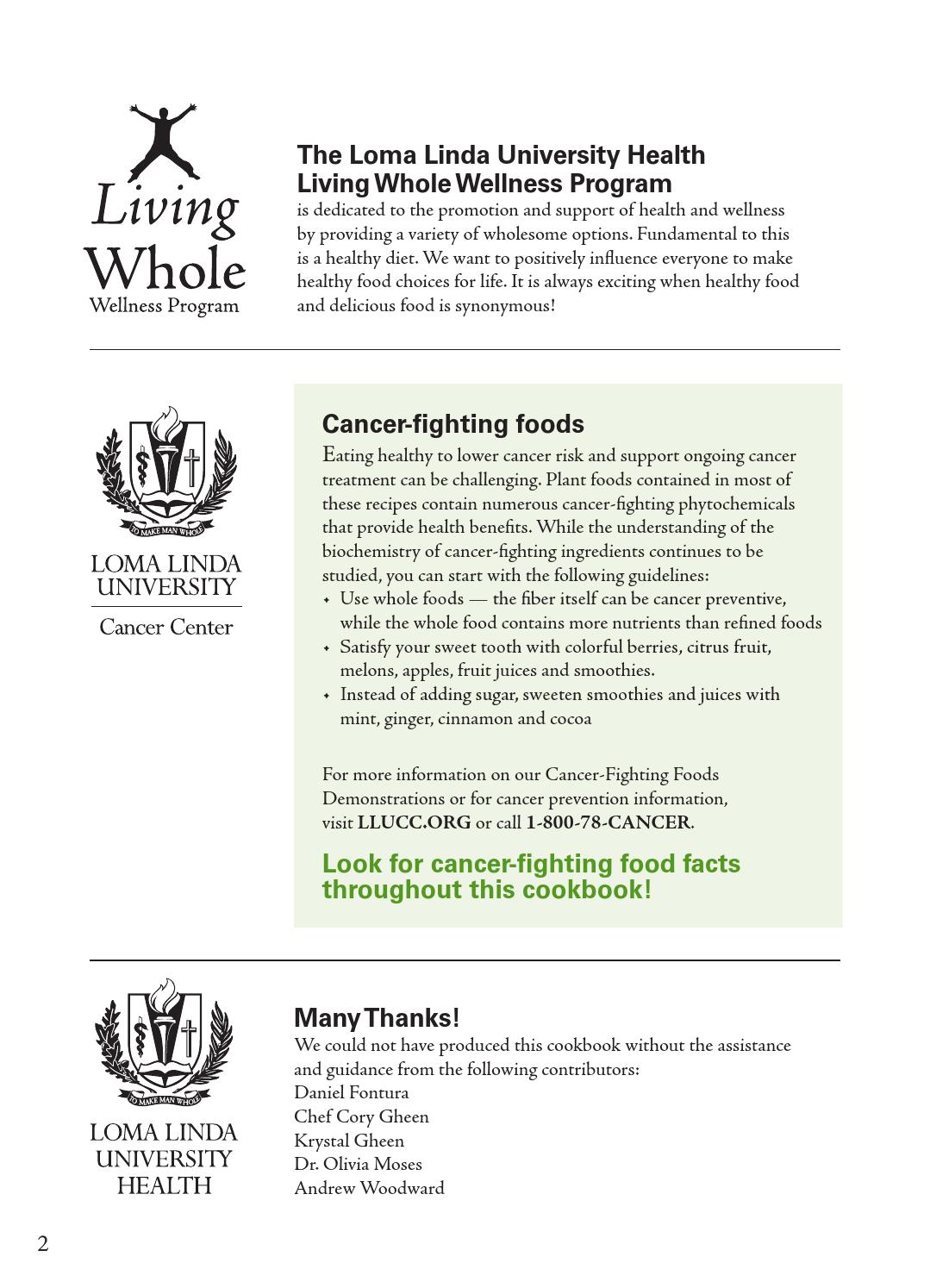 food for life the cancer prevention cookbook