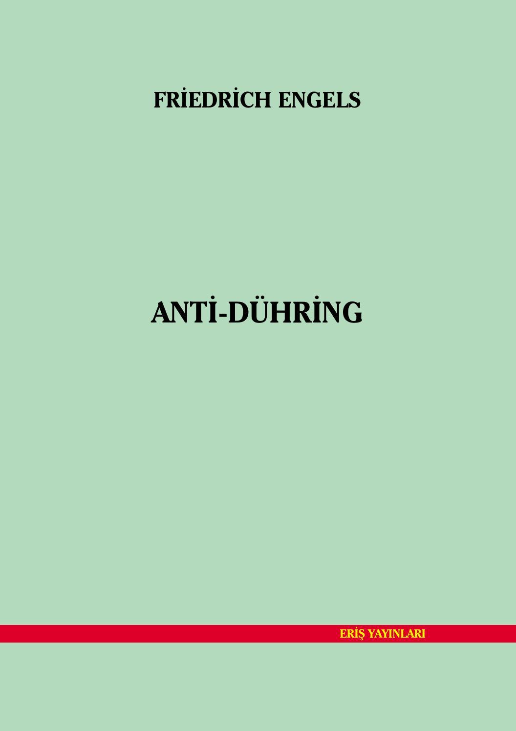 Anti Duhring Engels By Sol Dusun Altincag Yolcusu Sol Politik