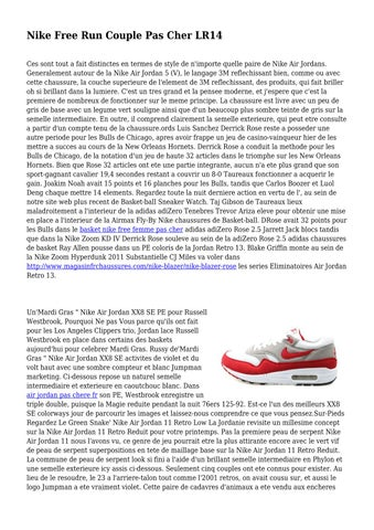 Cher Free Pas Nike Toweringjailer432 By Issuu Couple Run Lr14 rBoedWCx