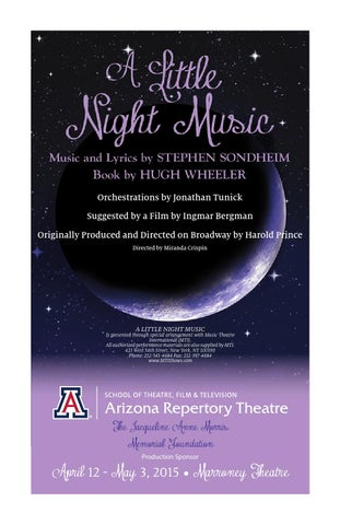Arizona repertory theatres a little night music program by ua page 1 stopboris