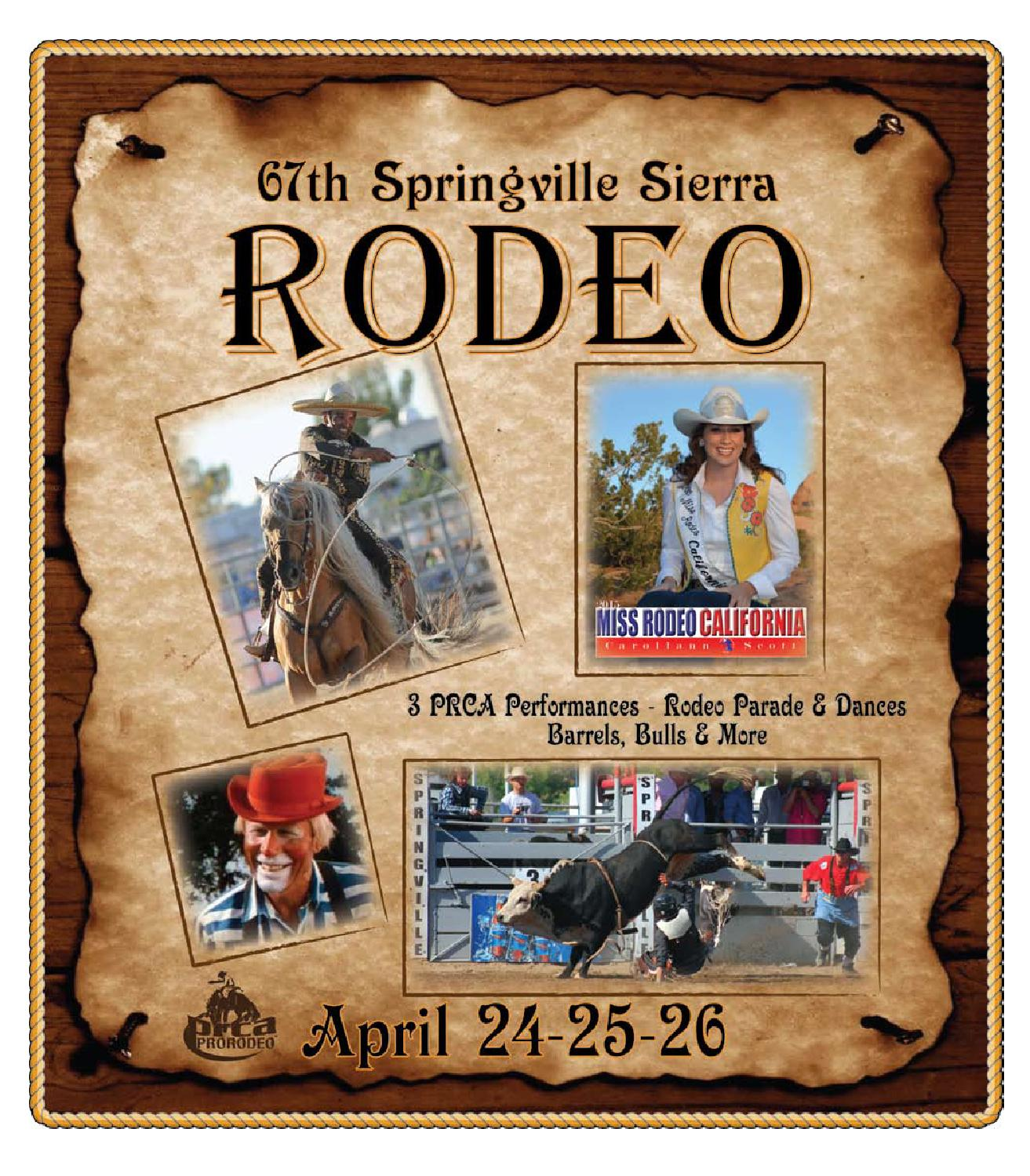 67th Springville Sierra Rodeo 2015