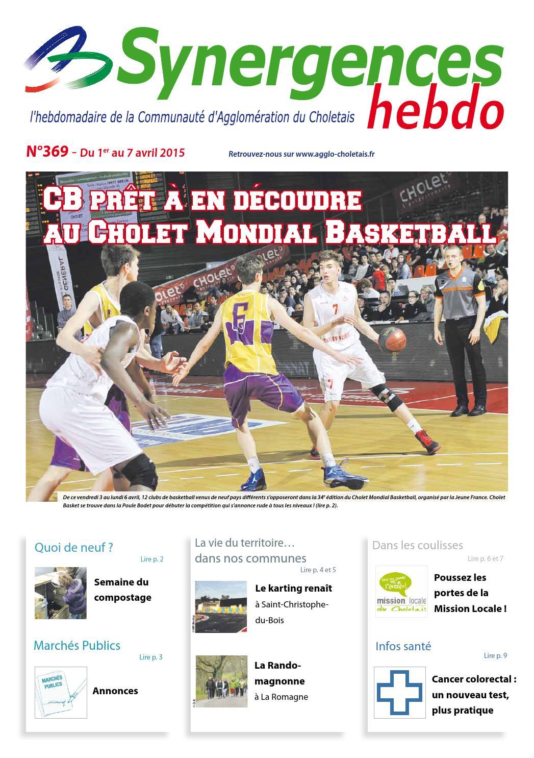 Synergences hebdo n°369 by Agglomération du Choletais - issuu