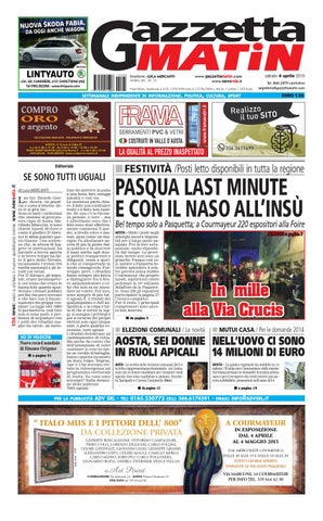 timeless design 9e0ed 1071b Gazzetta Matin del 4 aprile 2015 by NewsVDA - issuu