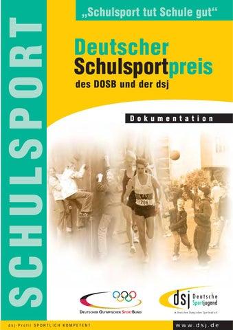 Deutscher Schulsportpreis Des Dosb Und Der Dsj By Deutsche